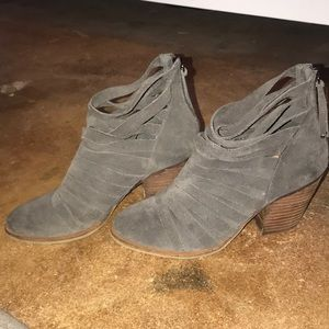 Strappy grey bootie